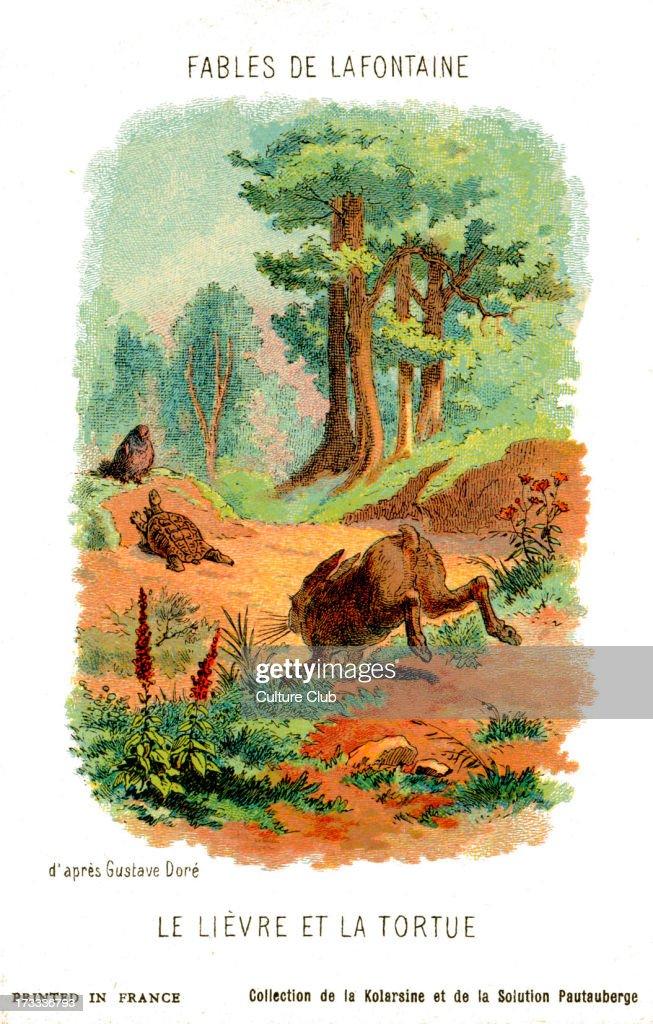 Le Livre Et La Tortue : livre, tortue, Lièvre, Tortue, Fable, Fontaine, After, Illustration, By..., Photo, Getty, Images