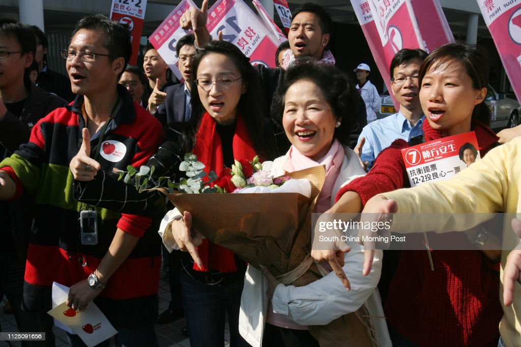 Legco By-election candidate Anson Chan Fang On-sang's last day of... News Photo - Getty Images
