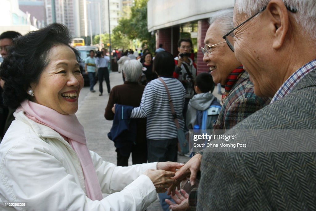 Legco By-election candidate Anson Chan Fang On-sang's last day of... News Photo | Getty Images