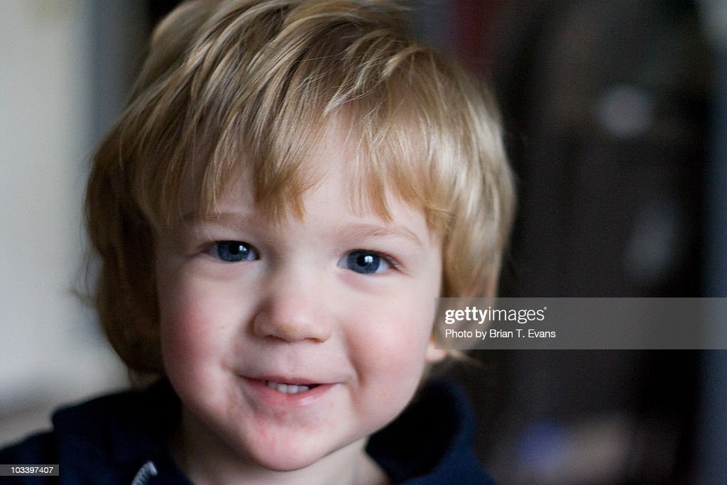 little boy with dirty blonde