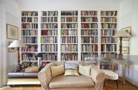 Living Room With Bookcase Stock Photo | Getty Images