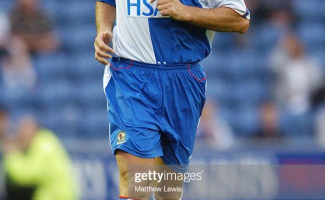 Lorenzo Amoruso Of Blackburn Rovers In Action During The