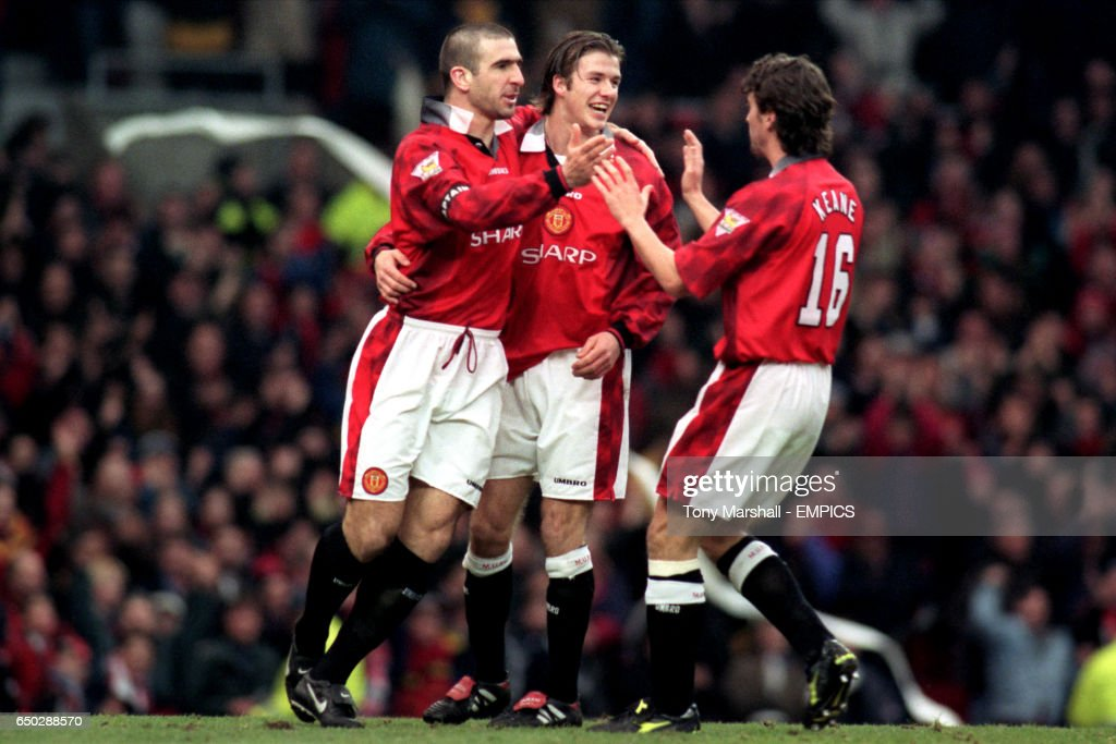 Cantona confirmed keane's account when speaking on unfiltered, calling the police officer who struck him a weak man. the former united forward said he reacted. L R Eric Cantona Is Congratulated By David Beckham And Roy Keane News Photo Getty Images