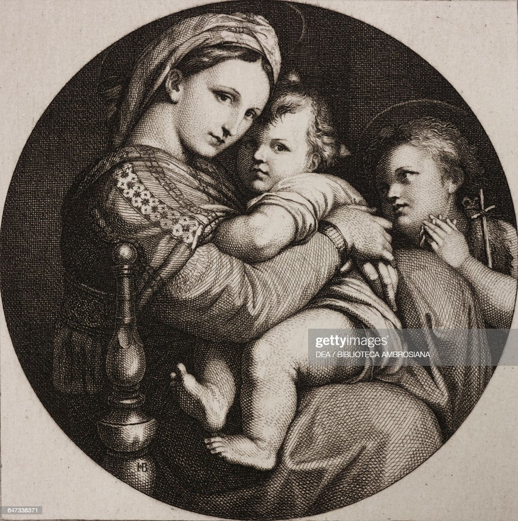 madonna of the chair most comfortable living room chairs engraving by hugo burkner pictures getty images