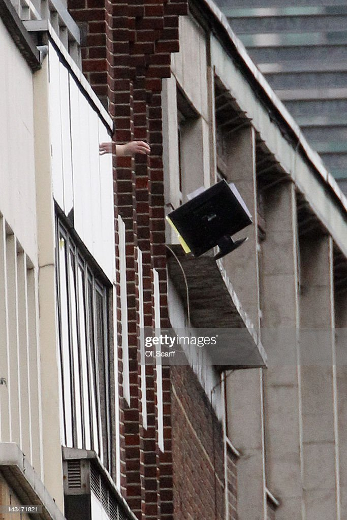 Throw Computer Out Window Stock Photos and Pictures