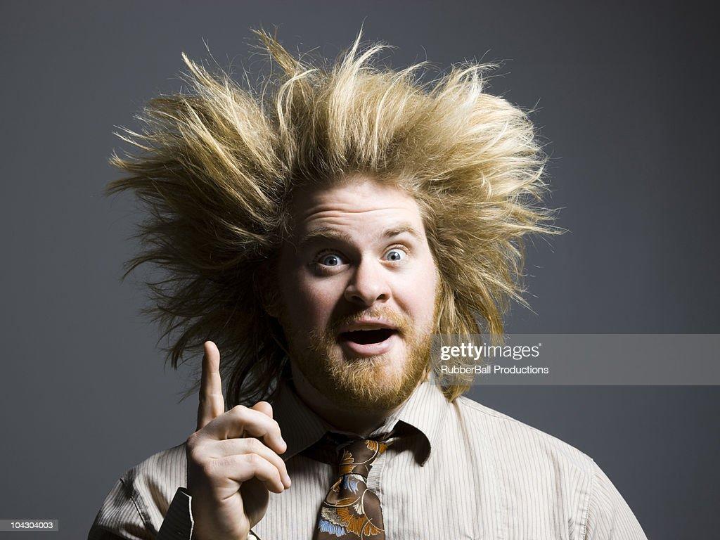 crazy hair stock