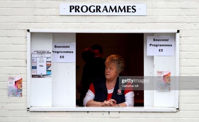 A Match Day Programme Seller Is Seen Prior To The Fa Cup
