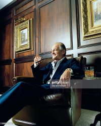 Mature Man Sitting In Leather Chair Smoking Cigar Stock ...