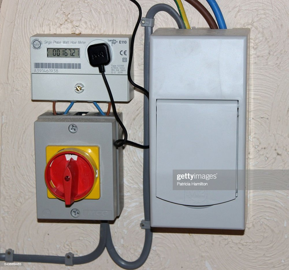medium resolution of meter switch and fuse box for domestic solar panels news photosolar energy news photo
