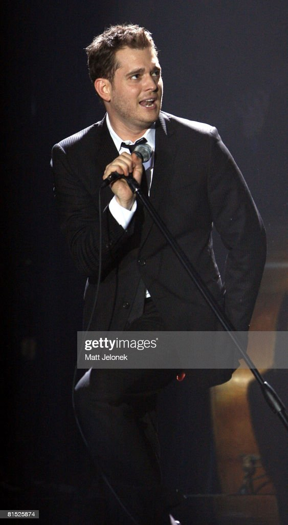 michael buble performs live