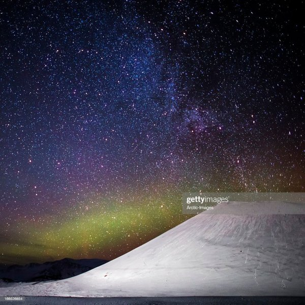 Milky Galaxy And Aurora Borealis Iceland Stock Getty