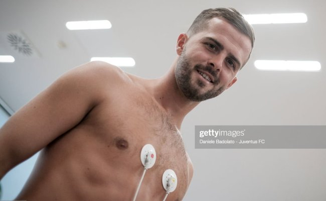 Miralem Pjanic Of Juventus Attends Medical Tests At