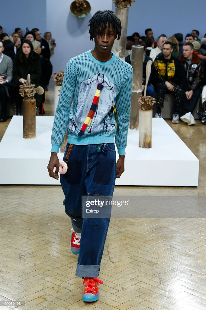 A model walks the runway at the JW Anderson show during London... News Photo - Getty Images