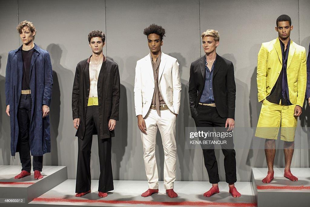 models display creations of