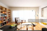 Modern Living Room Drapes Stock Photo | Getty Images