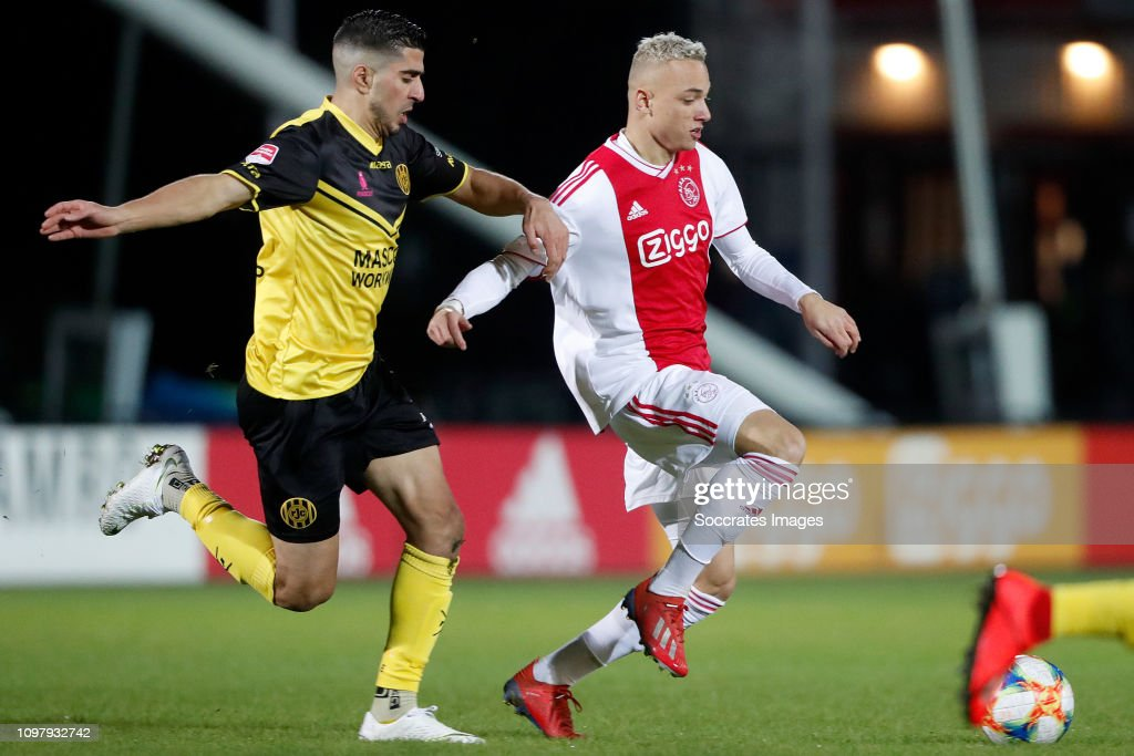 Mohamed El Makrini Of Roda Jc Noa Lang Of Ajax U23 During