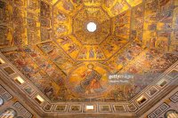 Mosaic Ceiling In The Baptistry Of Florence Stock Photo