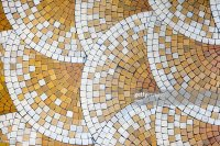 Mosaic Tiles In Old House Stock Photo | Getty Images