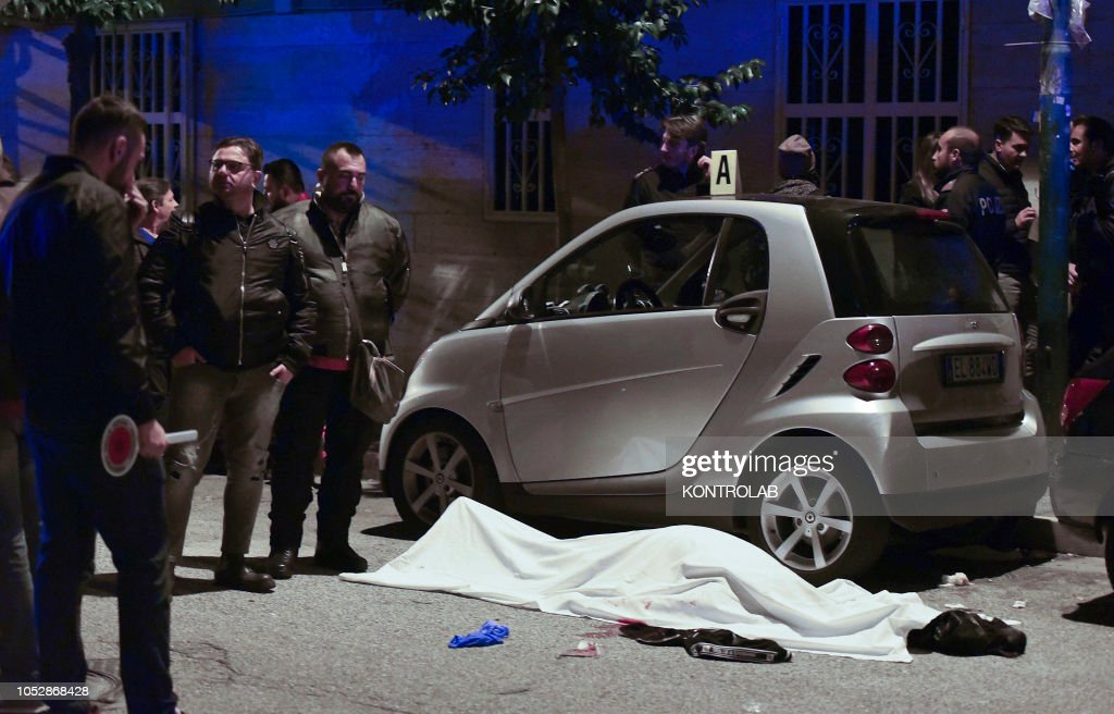 Murder of Mafia in the district of Secondigliano. suburbs of Naples.... News Photo - Getty Images