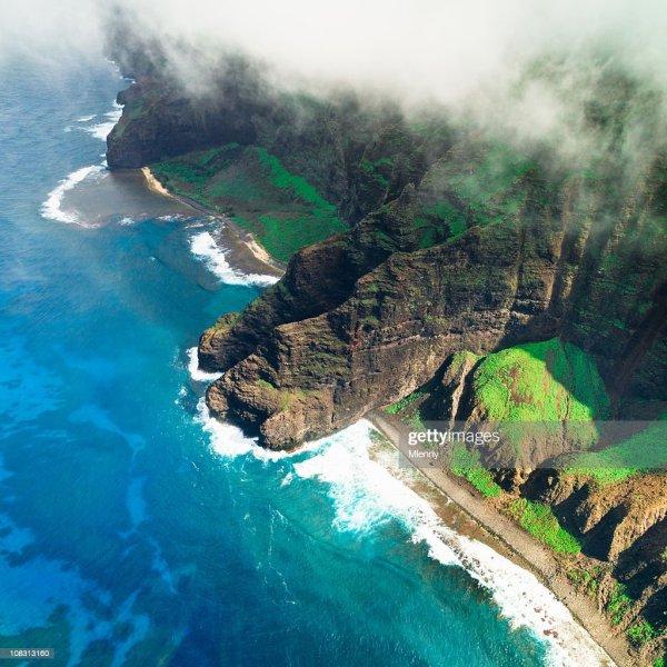 Na Pali Coast Kauai Island Hawaiian Islands Stock