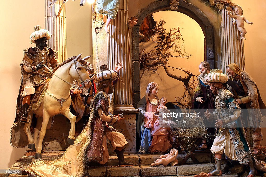 Neapolitan Christmas Nativity Figurines Photos and Images