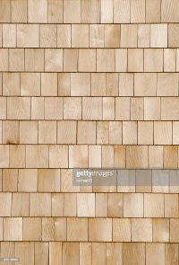 New Cedar Shingle Wall Close Up Wood Background Design