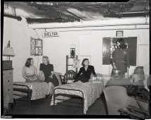 Hotel Completes Air Raid Shelter. Of Allerton