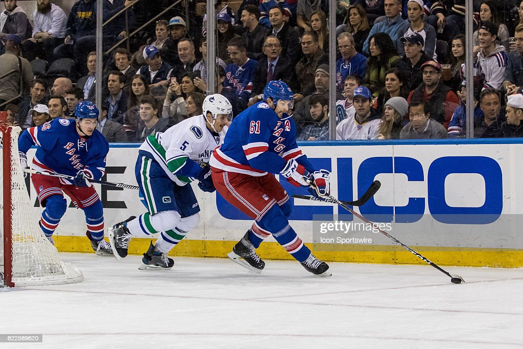 Nhl Nov 08 Canucks At Rangers Pictures  Getty Images