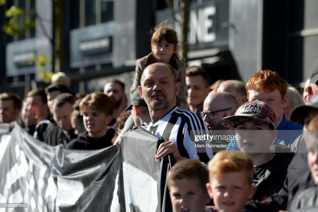 The sports direct founder didn't make his. Newcastle United fans protest against chairman Mike Ashley ...