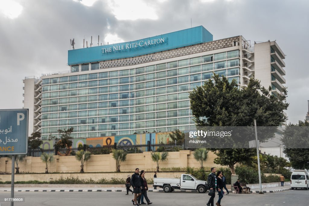 Nile Ritz Carlton Hotel Cairo Egypt High Res Stock Photo