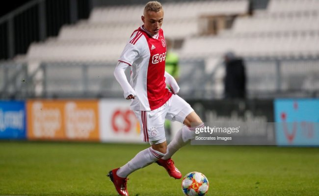 Noa Lang Of Ajax U23 During The Dutch Keuken Kampioen