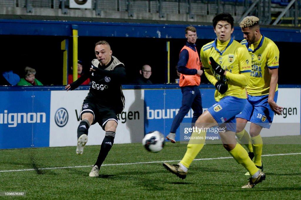 Noa Lang Of Ajax U23 Sai Van Wermeskerken Of Sc Cambuur