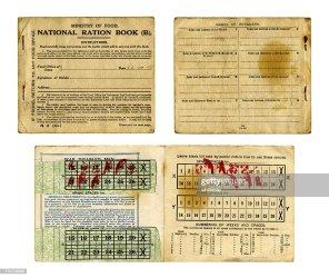 ration british 1918 britannique droit