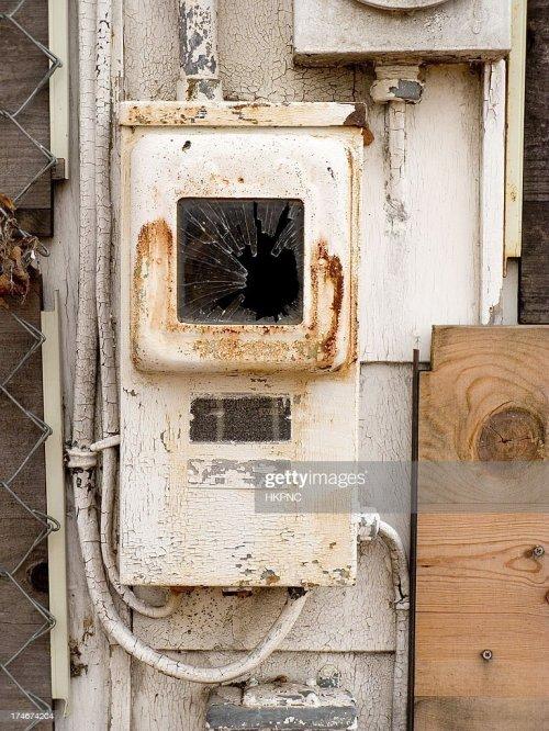 small resolution of alte rostige fuse box mit pealing farbe an verlassenen haus stock foto