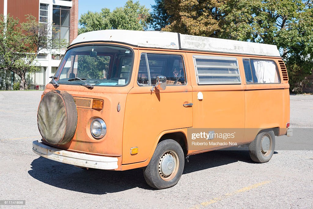 old vw bus parked