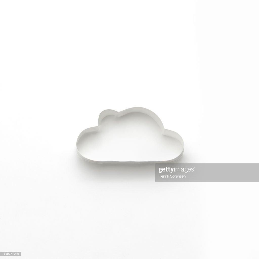 origami cloud stock photo