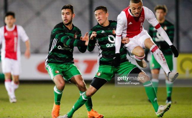 Orkun Kokcu Of Feyenoord U19 Jordy Wehrmann Of Feyenoord