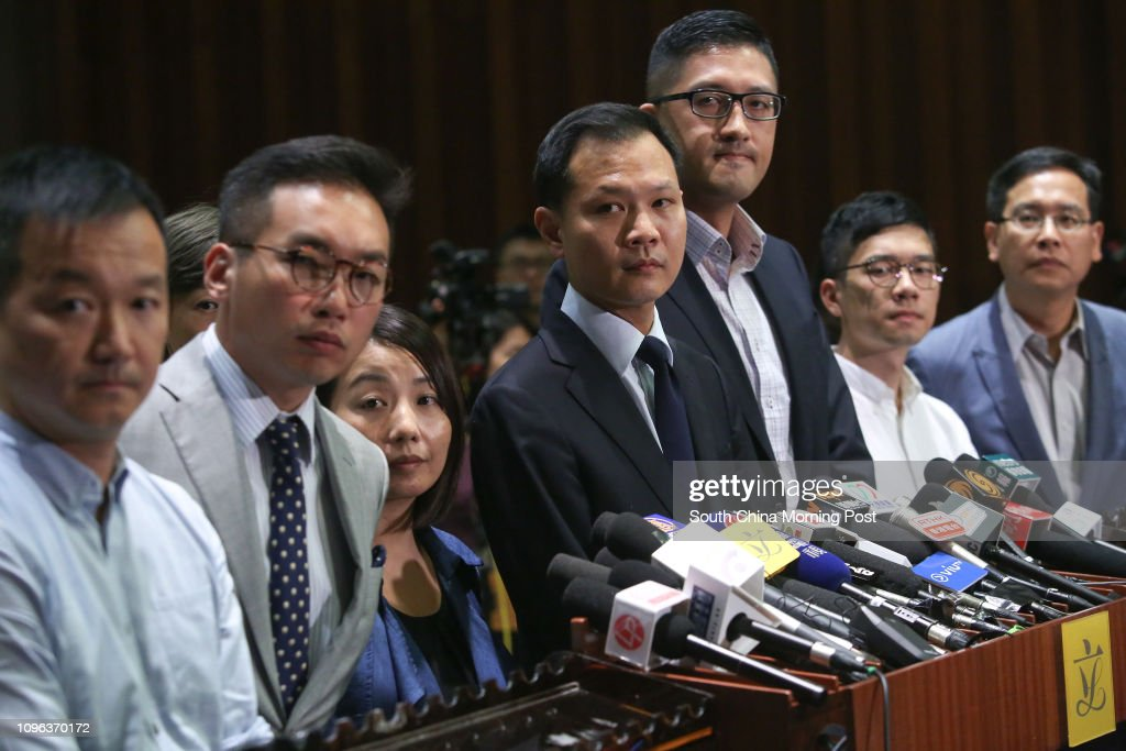 Pan-democratic lawmakers Raymond Chan Chi-chuen. Alvin Yeung... News Photo   Getty Images