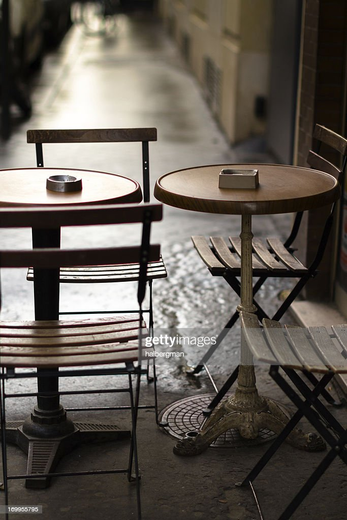 parisian cafe table and chairs desk without wheels by halbergman