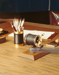 Pencil Holder With Vintage Sharpener Unknown | Getty Images