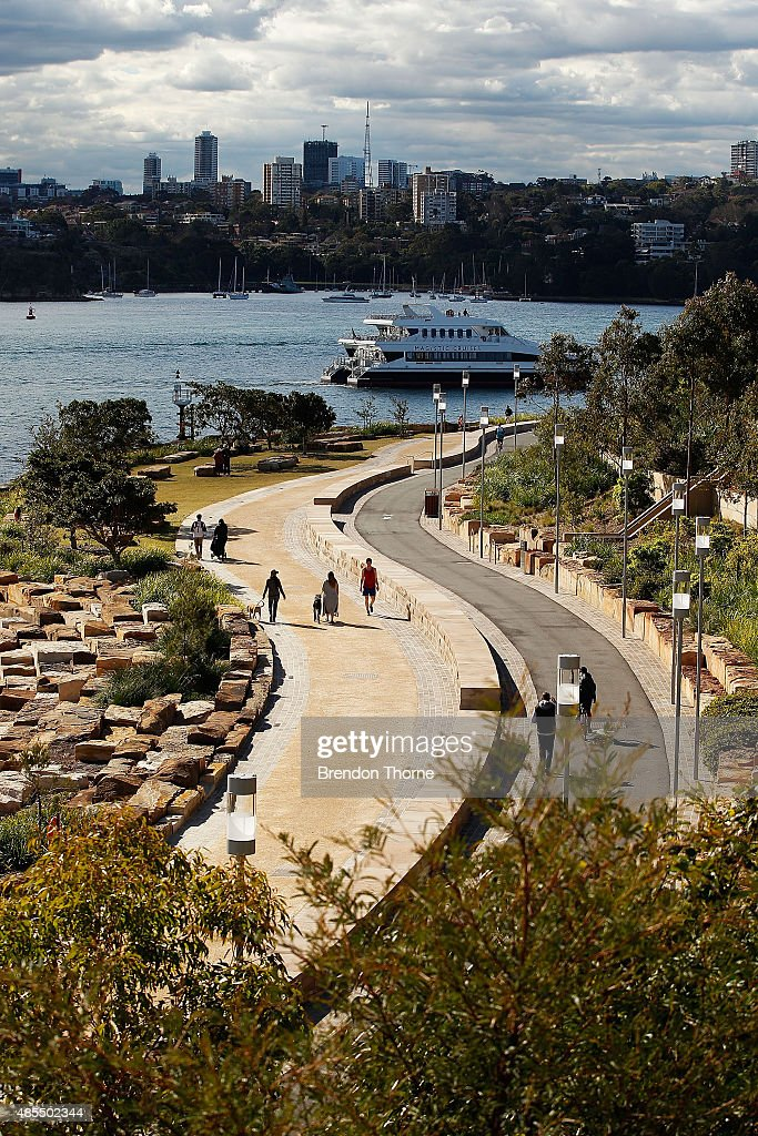 People walk at Barangaroo Reserve on August 28. 2015 in Sydney.... News Photo - Getty Images