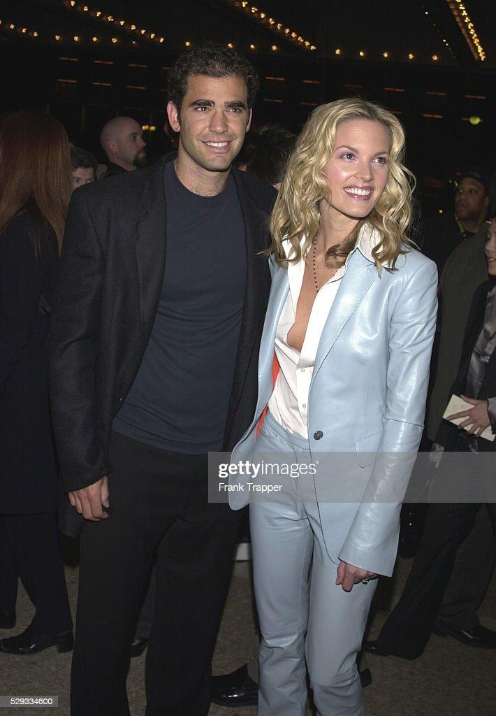 Pete Sampras with Bridgette WilsonSampras his wife co