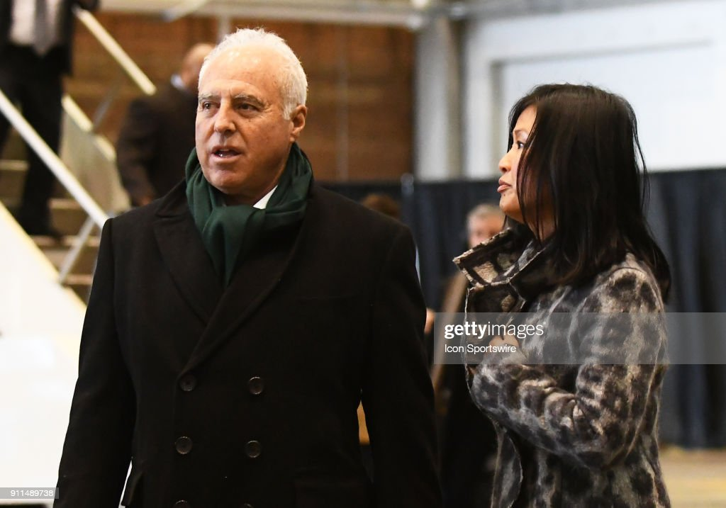 Philadelphia Eagles Owner Jeffrey Lurie and his wife Tina Lai arrive... News Photo - Getty Images