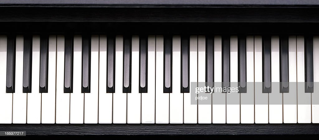 60 top piano key