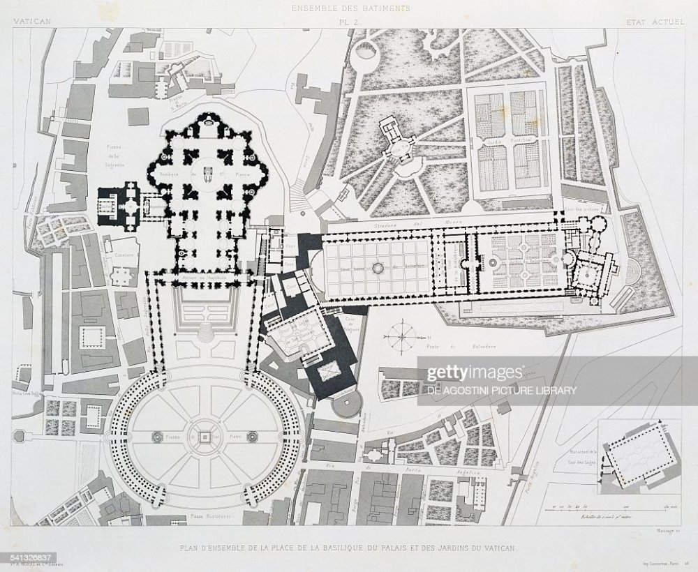medium resolution of engraving from vatican and st peter s basilica