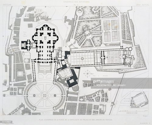 small resolution of engraving from vatican and st peter s basilica