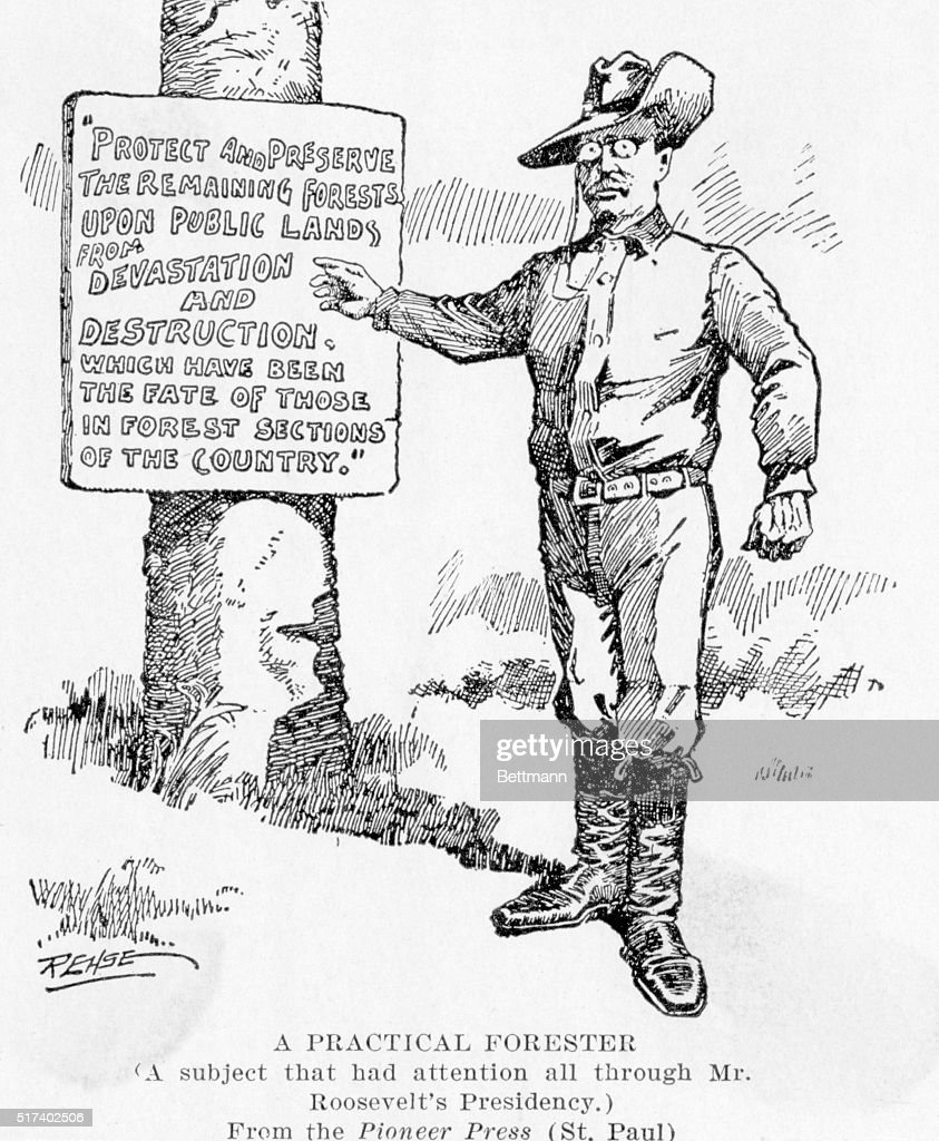 Political cartoon of Theodore Roosevelt, dressed as a
