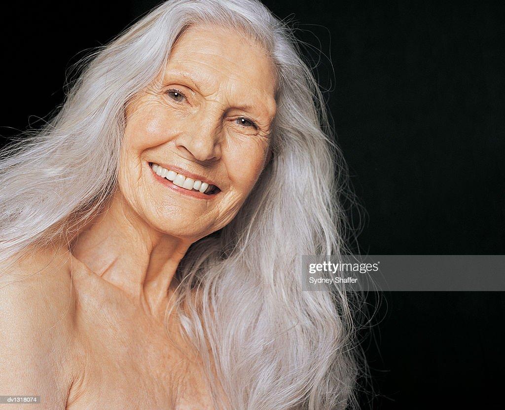 portrait of smiling senior female