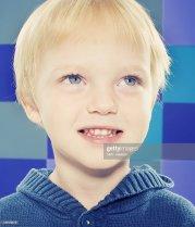 portrait of blue eyed blonde hair