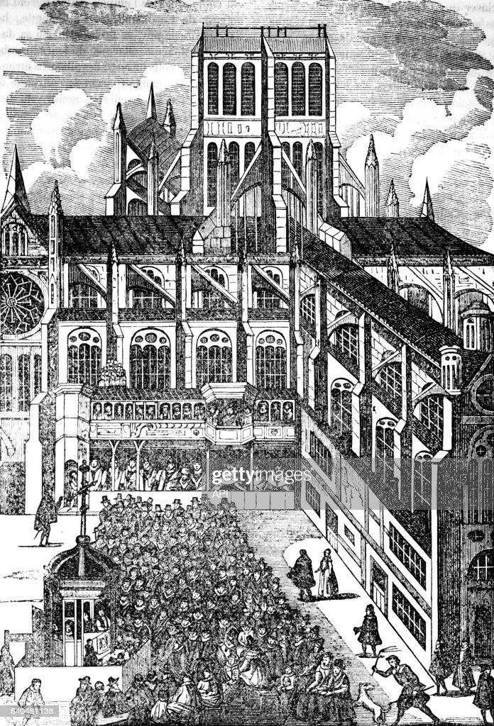 Le Roi Et Sa Cour : Prêche, Devant, Jacques, Cathédrale..., Photo, Getty, Images